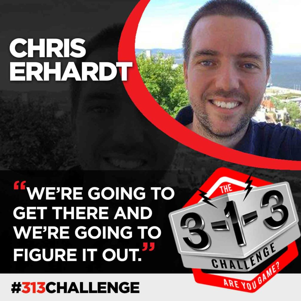 Podcast! The 3-1-3 Challenge with Ryan Foland: Chris Erhardt