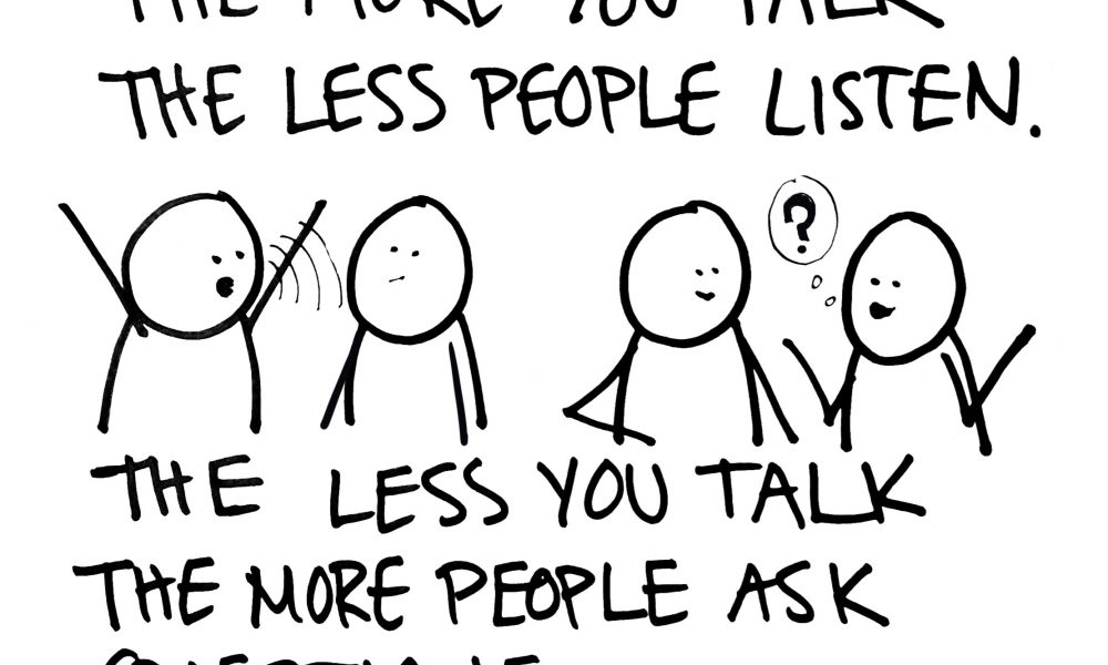When You Talk More, People Listen Less